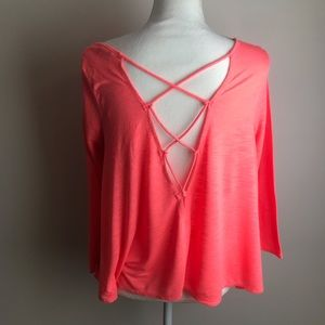 American Eagle Outfitters - Neon pink coral top
